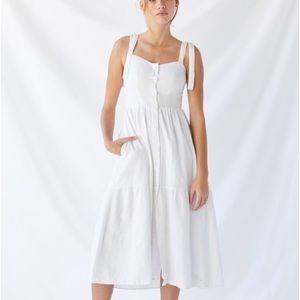 Urban Outfitters Tie-Shoulder Midi Dress
